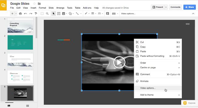 Google Slides - Turn on auto-play mode