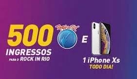 Nova Promoção Km de Vantagens iPhone XS Todo Dia e Ingressos Rock In Rio