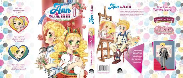Arechi Manga muestra la sobrecubierta de Anne wa Anne de, Yumiko Igarashi.