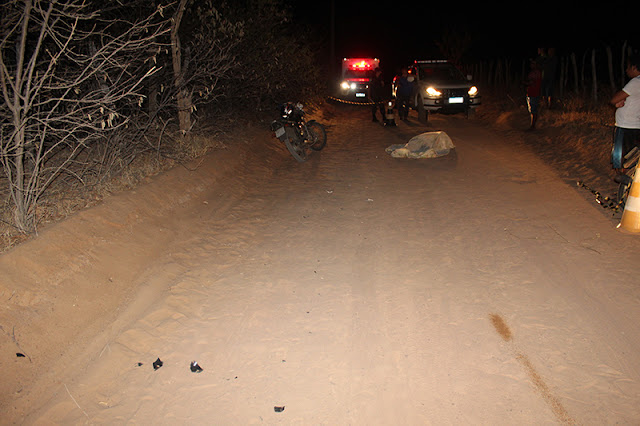 Agricultor cai da moto em estrada carroçável e morre no Oeste Potiguar
