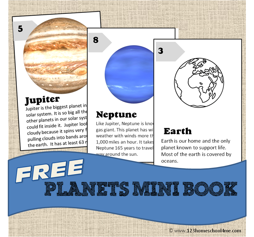 free printable solar system booklet - photo #7