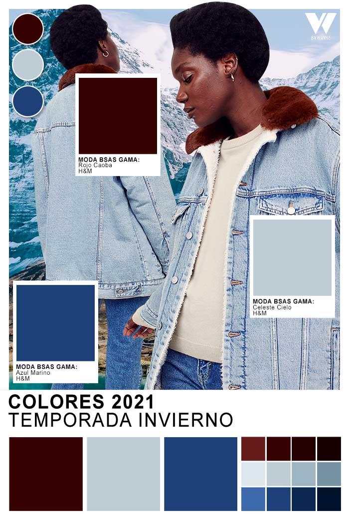 Colores de moda invierno 2021 ropa de mujer jean campera mujer