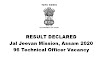 Jal Jeevan Mission, Assam Result Declared 2020: 96 Technical Officer Vacancy