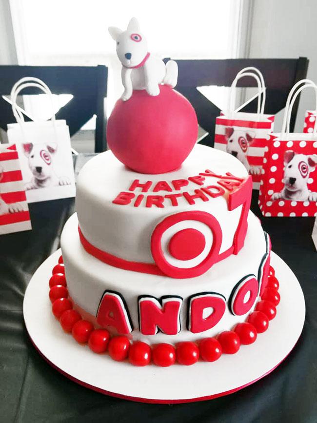 Target Themed Birthday Cake