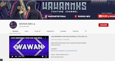 Youtuber Gaming Free Fire - WAWANMKS