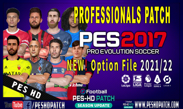 PES 2017 Professionals Patch v6.2 Option File 2022 Last Transfers July