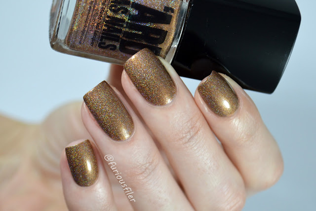 ard as nails cbjs lil star swatch gold holo