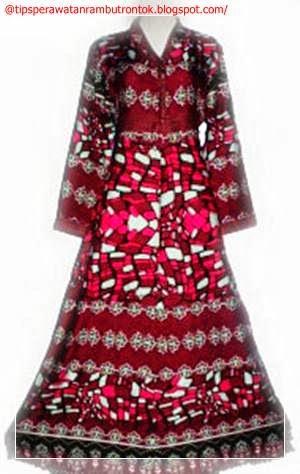 Model Baju Batik Terbaru Gambar Model Baju Batik Gamis Pesta