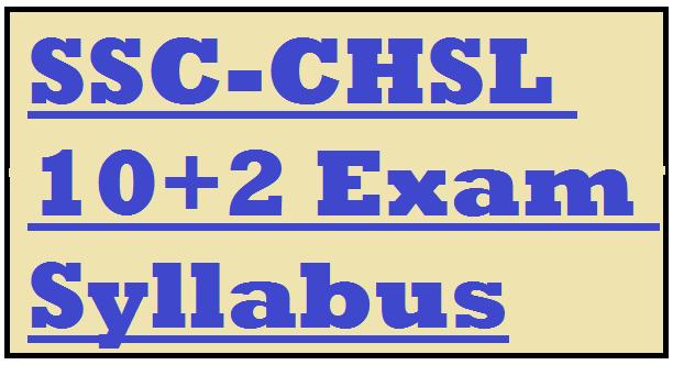 SSC-CHSL 10+2 Exam Syllabus