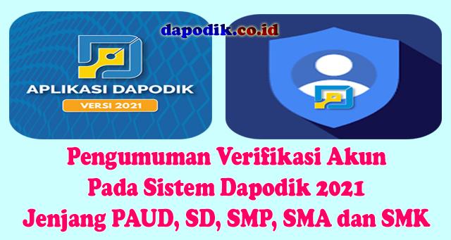 Pengumuman Verifikasi Akun Pada Sistem Dapodik 2021 ...