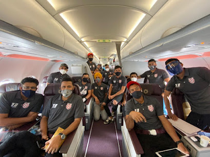 KXIP players at the flight