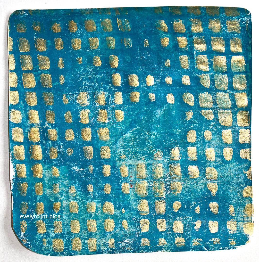 Turquoise Square Print