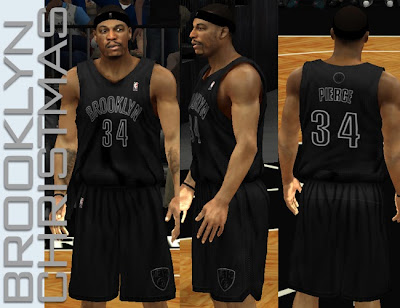 NBA 2K13 Brooklyn Nets Black Christmas Jersey Patch