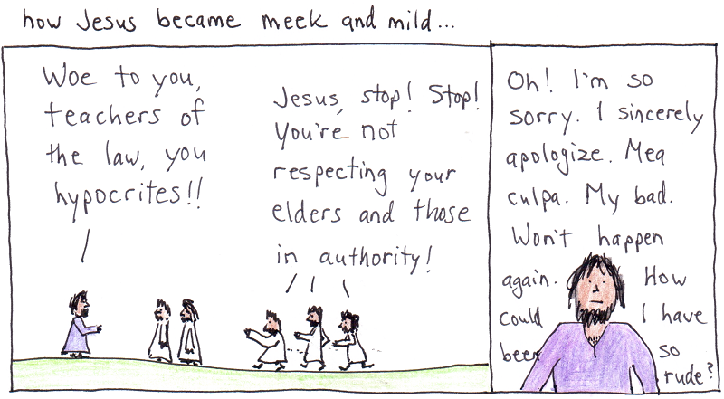 with arms wide open: jesus meek and mild