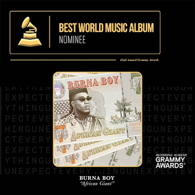 Burna Boy Grammy nominee