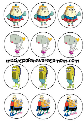 Free spongebob birthday printables