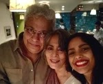 Shahana Goswami with her parents