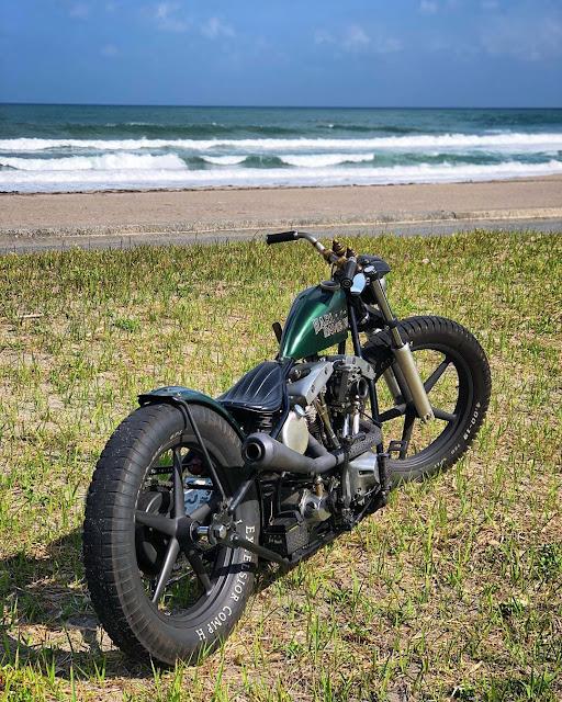 Harley Davidson Shovelhead By Kaktuz Chopper Garage Hell Kustom