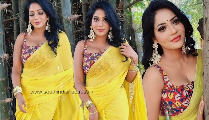 Reshma Pasupuleti Hot Pics Stills In Yellow Saree Photos