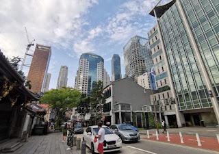 Thian Hock Keng Temple o Tianfu Temple, Chinatown, Singapur o Singapore.