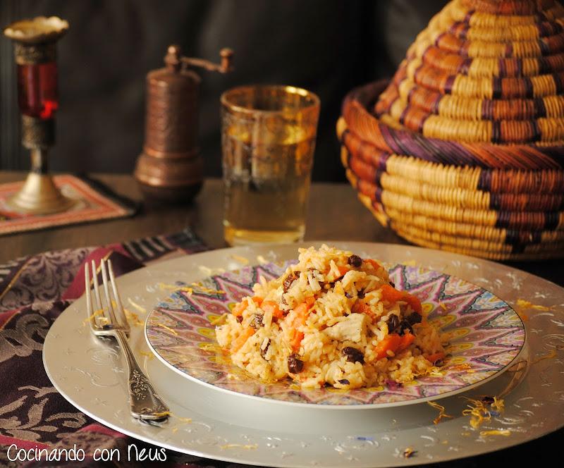 """Arroz estilo marroquí """"arroces del mundo-cocinando-con-neus"""