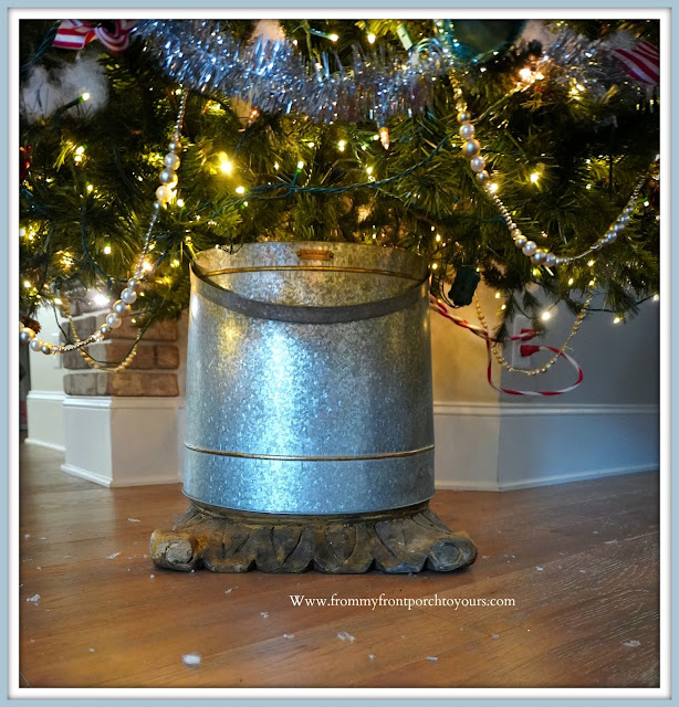 Cottage- Farmhouse -Christmas -Trees-DIY-Custom-Tree-Stand-From My Front Porch To Yours