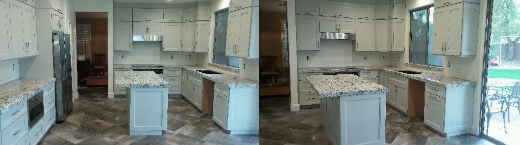 White Shaker Cabinets U0026 Granite Countertops With Ju0026K Cabinetry In Phoenix