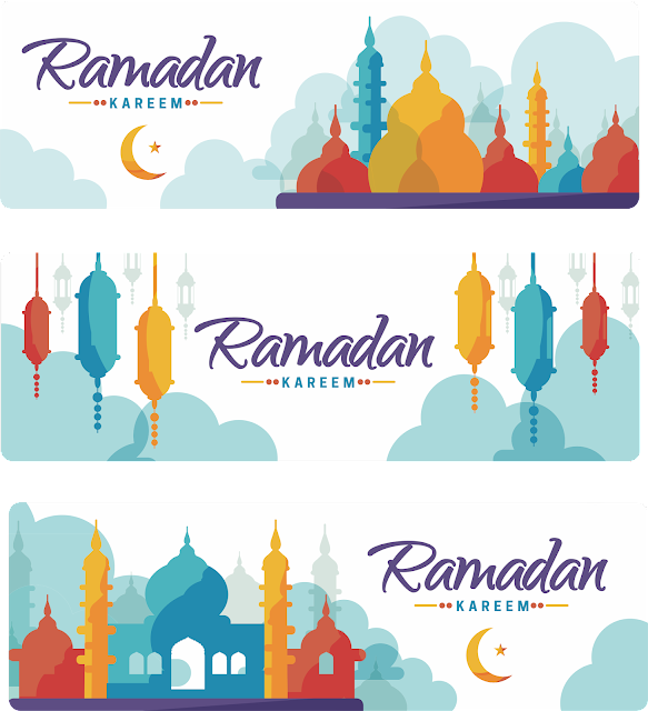 Download Contoh Banner Bulan Suci Ramadhan Format CorelDRAW