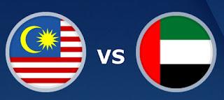 الإمارات فى مواجهة ماليزيا اليوم الخميس 3 مايو 2021 في التصفيات الآسيوية المزدوجة