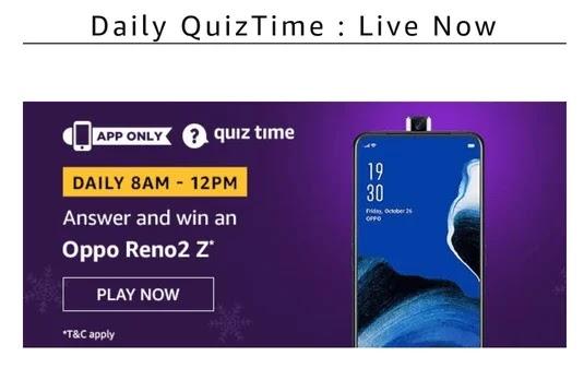 Amazon Oppo Reno 2 Quiz