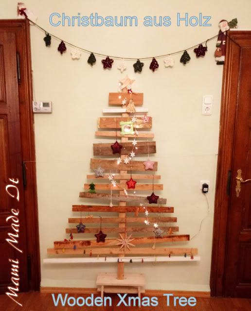 Christbaum aus Holz - Wooden Xmas Tree