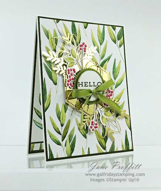 Forever Fern Suite collection, gold laser cut specialty paper and a berry branch from Toile Christmas