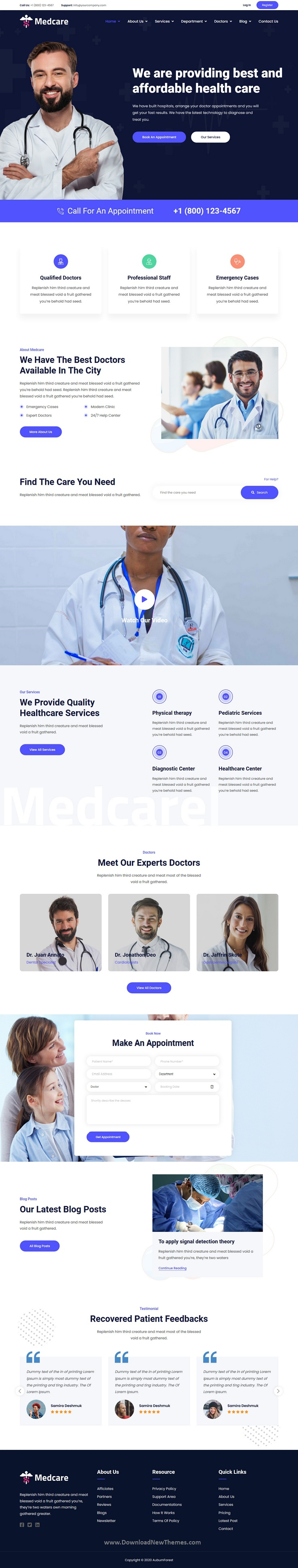 Health Medical Clinic HTML Template