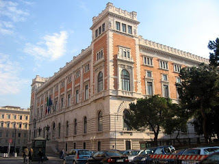 The Palazzo Montecitorio has housed the Italian Chamber of Deputies since 1918