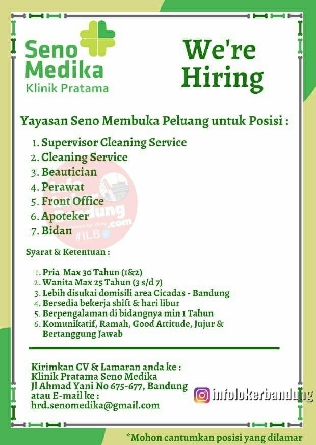 Lowongan Kerja Klinik Pratama Seno Medika Bandung Januari 2021