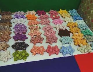 souvenir pernikahan bros bunga batik