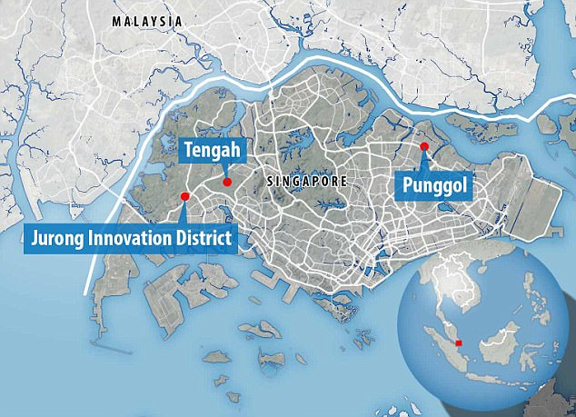 Driverless buses will be deployed in three new suburban towns -Punggol, Tengah and the Jurong Innovation District.