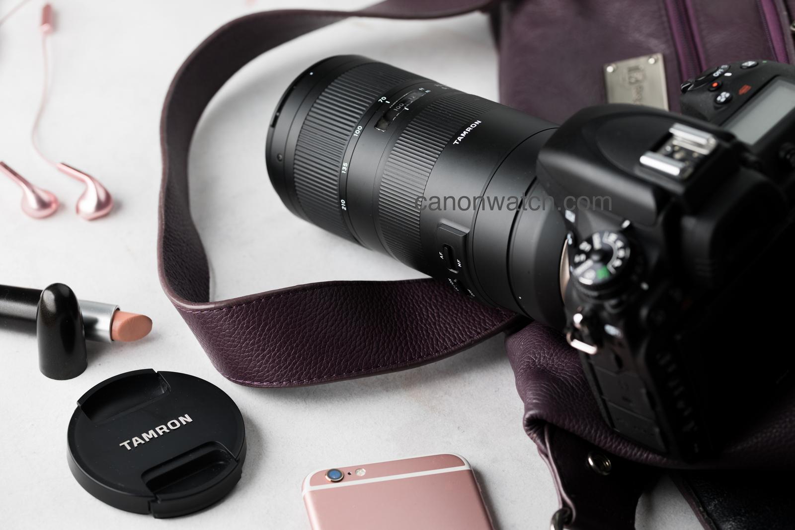 Объектив Tamron 70-210mm f/4 Di VC USD установлен на фотоаппарат
