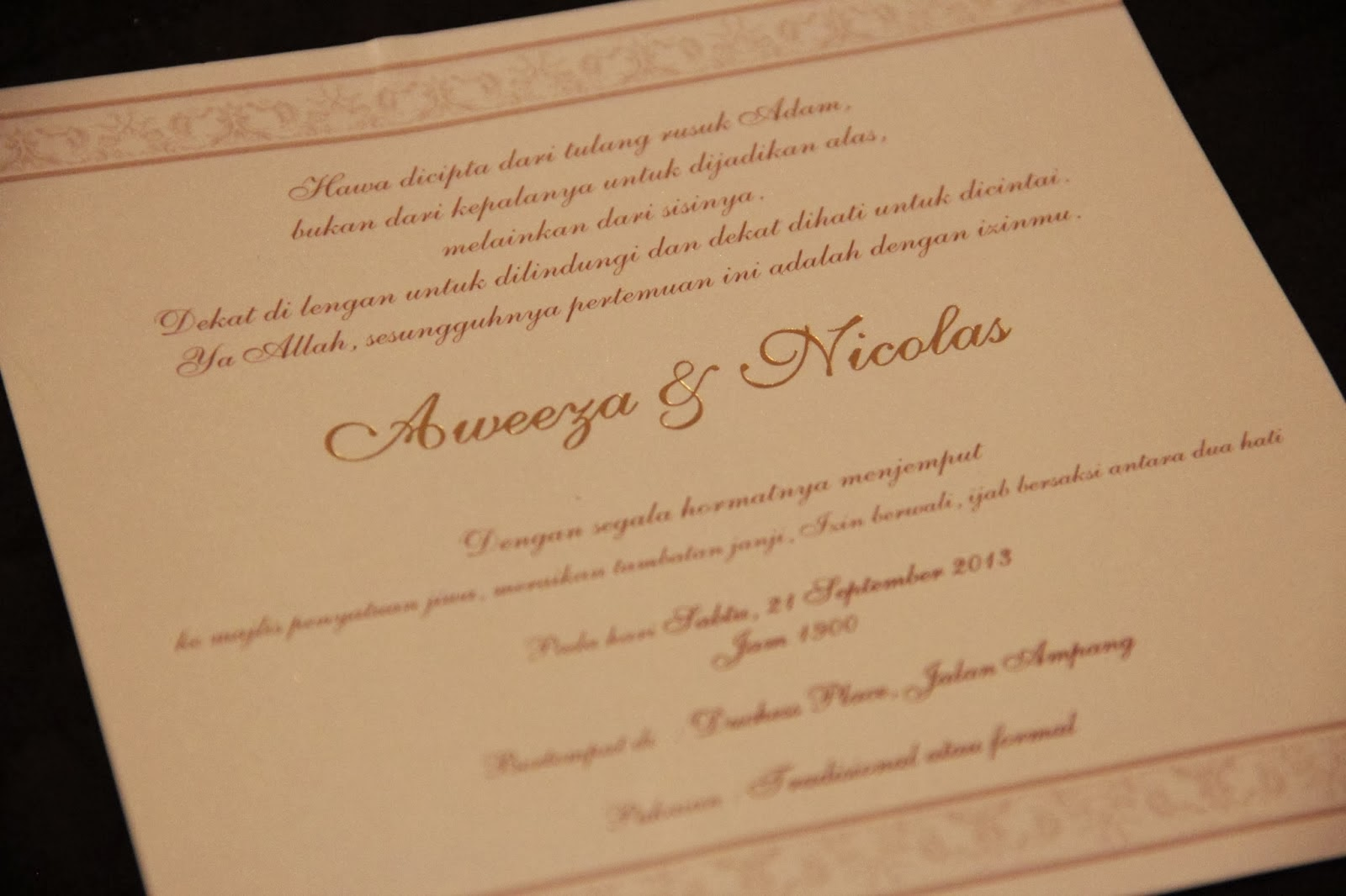 Cinte Everywhere Our Official Wedding Invitation Card