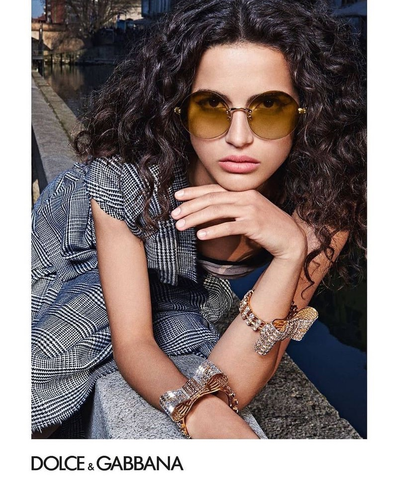 Chiara Scelsi stars in Dolce & Gabbana Eyewear fall-winter 2019 campaign