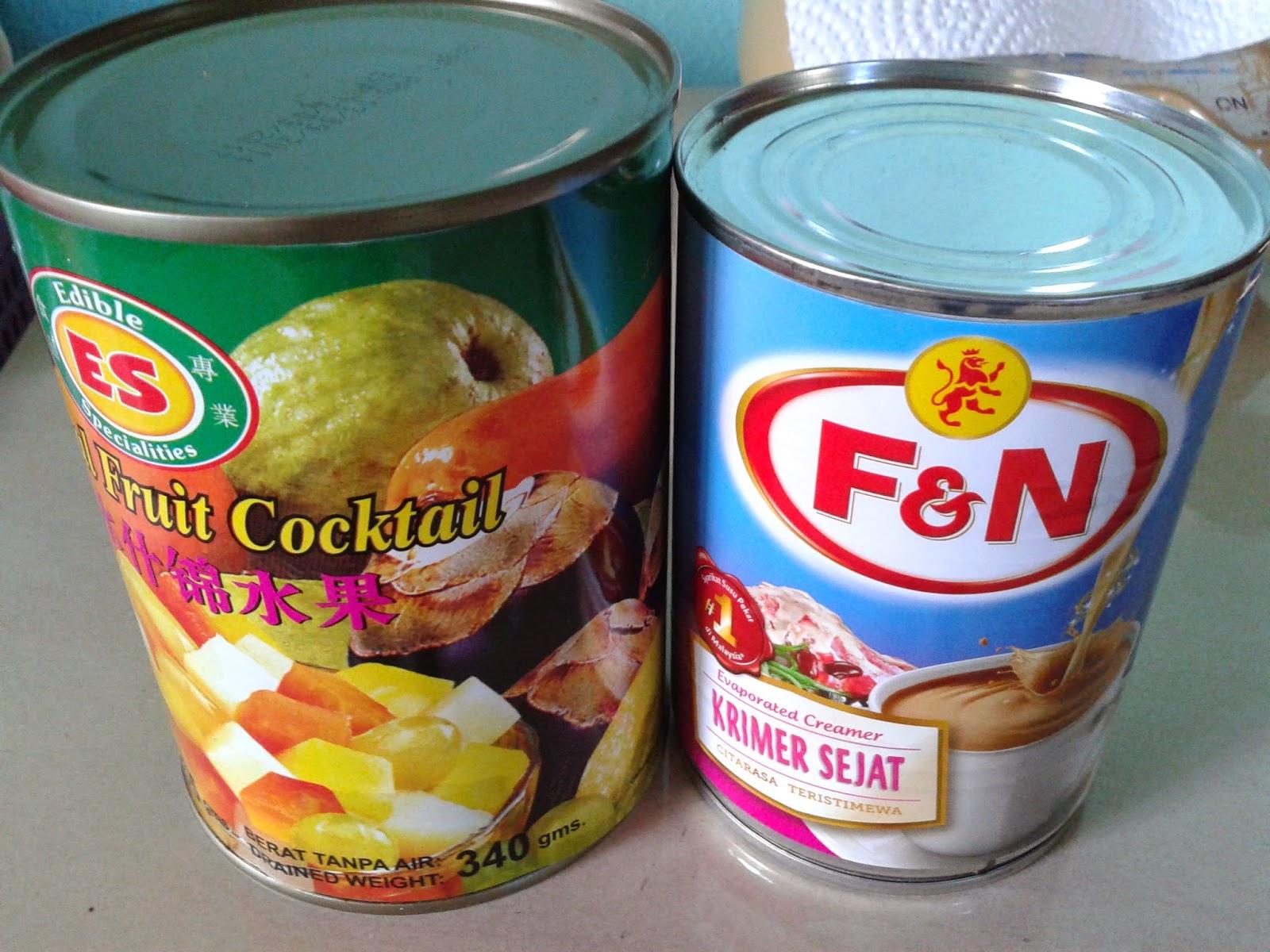 Image result for koktail buah, koktail buah, koktail buah mudah, juadah berbuka puasa, menu iftar, laici tin, buah-buahan tin,  kelapa laut tin, nata de coco