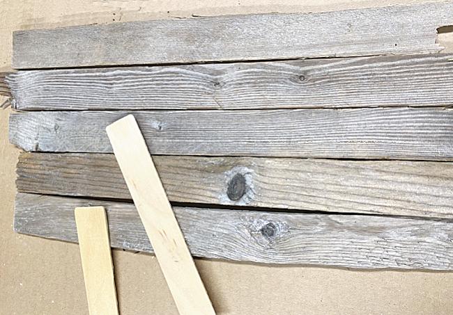 driftwood slats