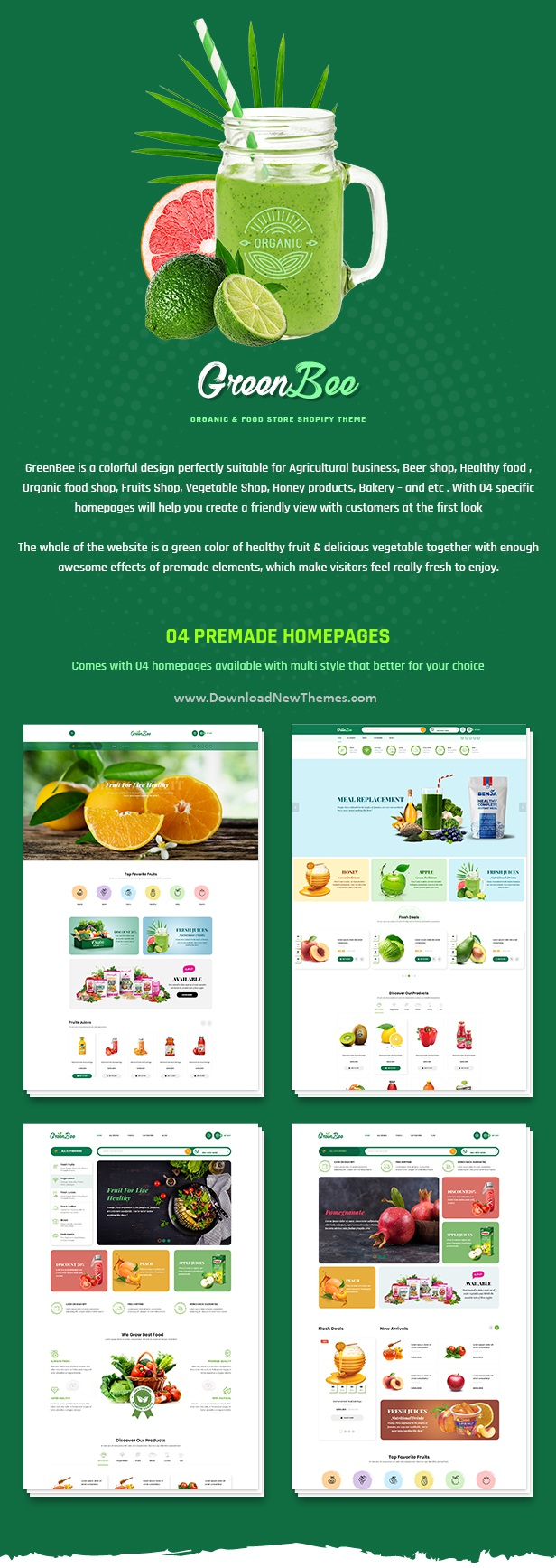 Vegetable and Fruit Shop Shopify Theme