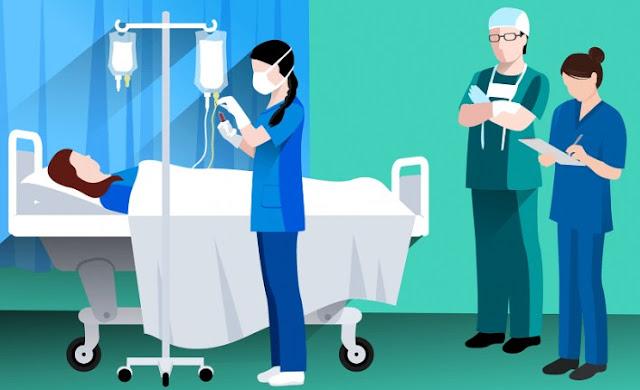 Pasien di rumah sakit simbah