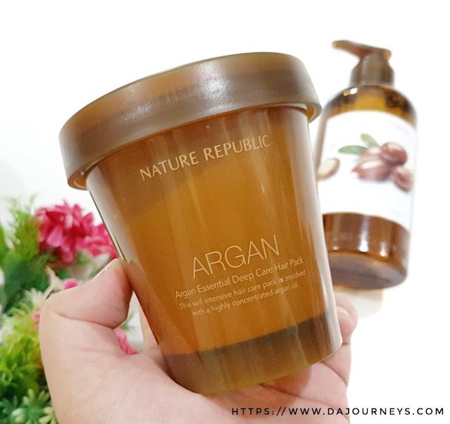 Review Nature Republic Argan Essential Deep Care Hair Pack