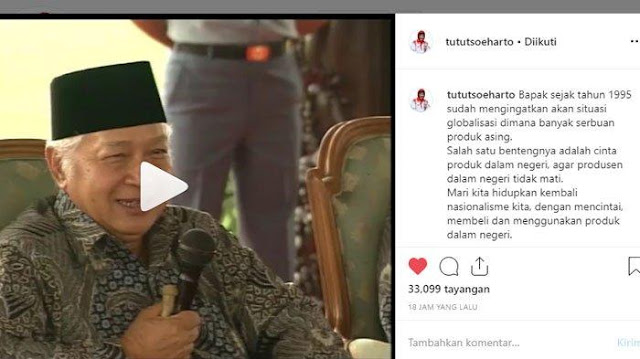 Video Viral, Tepatnya Prediksi Presiden Soeharto Soal Nasib Indonesia Tahun 2020