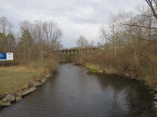 wood trestle railroad bridge