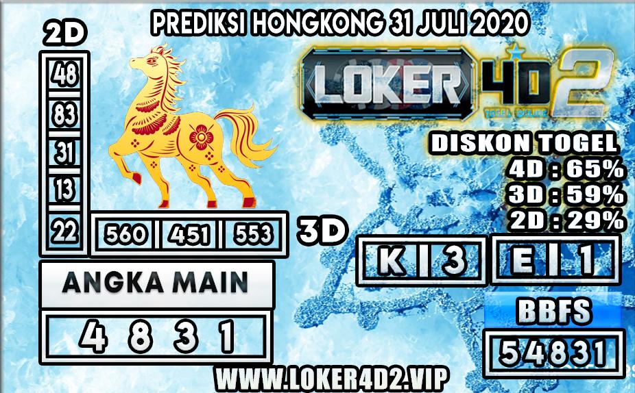 PREDIKSI TOGEL LOKER4D2 HONGKONG 31 JULI 2020