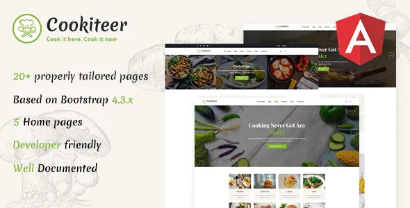 Best Food & Recipe Angular Template