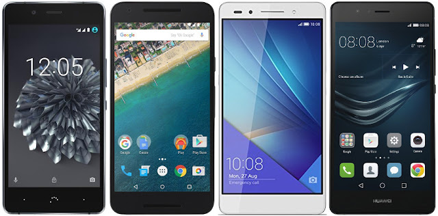bq Aquaris X5 Plus vs Nexus 5X vs Honor 7 vs Huawei P9 Lite
